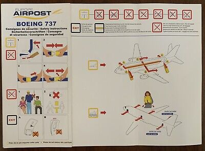AIR POST 🇫🇷 Boeing 737 Safety Card ,