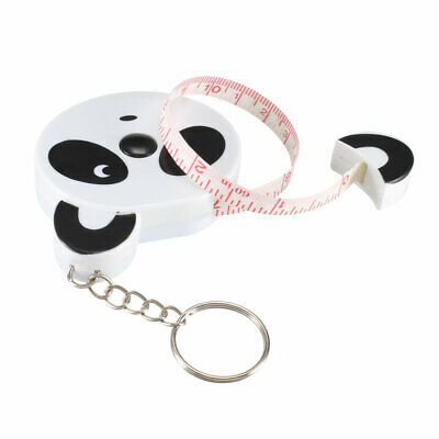 60 Inch Measuring Tape Soft Dual Sided with Keychain 1.5 Meter Cartoon White