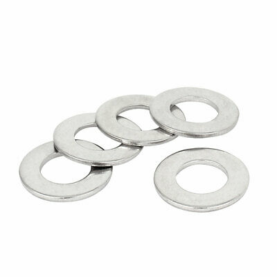5 Pcs Ring Shaped Metal Flat Washer M8 x 16mm x 1mm for Screws Bolts