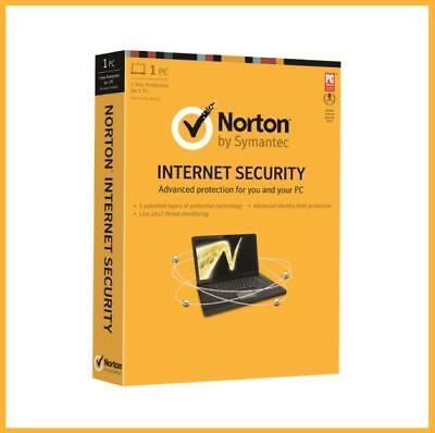 Norton internet security antivirus 2019 1 PC 1 YEAR - US KEY CODE