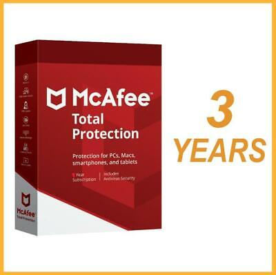 McAfee Total Protection 2019 Antivirus (3 YEARS ) MAC,Win,Android FAST DOWNLOAD