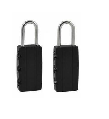 2x 3 Digit Code Combination Padlock Travel Luggage Suitcase Gym Locker Safe Lock