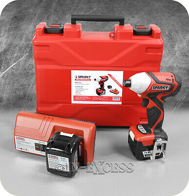 Sparky Cordless Li-ion Impact Driver Drill 2 x 2.6Ah & Battery Charger - 14.4V