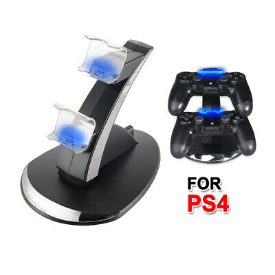 LED Dual Charger Ladestation für Playstation PS4 Slim / Pro Controller AC1610