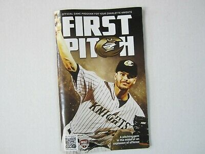 Charlotte Knights program June 2019 Dylan Cease on cover AAA Chicago White Sox