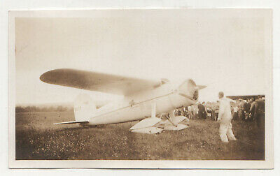 1933 WILEY POST Original Photograph Photo WINNIE MAE Floyd Bennett Field NY Air