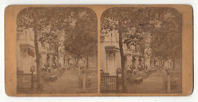 MARTHA'S VINEYARD Stereoview OAK BLUFFS Wesleyan Grove Camp Ground COTTAGES MV