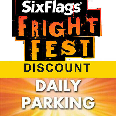 $67.00 Off Six Flags Great Adventure Tickets & Parking - Fright Fest Discount