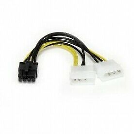 6in LP4 to 8 Pin PCI Express Video Card Power Cable Adapter