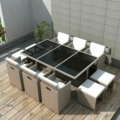 SALON DE JARDIN, Lounge design, Poly rotin de qualité blanc ...