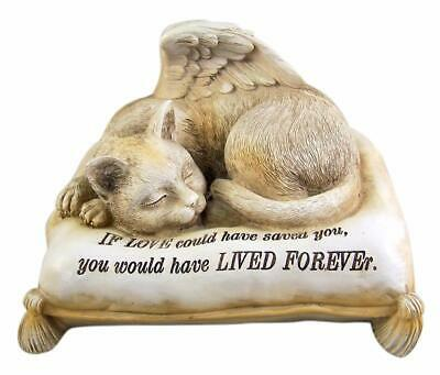 Angel Cat Urn For Cremations Ashes Statue Pet Memorial Figurine