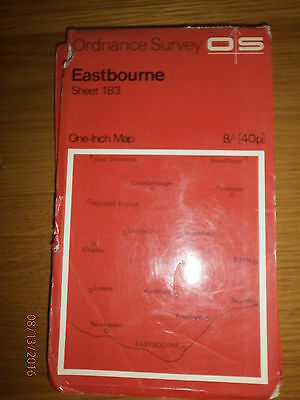 ordnance survey eastbourne one inch map sheet 183 crown copyright 1969
