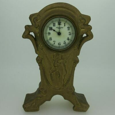 Antique New Haven Clock Co. Gilt Metal Clock Parts As-Is