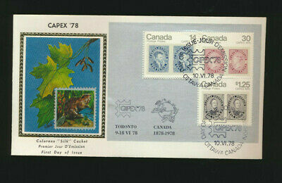 Capex Canada 1978 Souvenir Sheet #756a Colorano Silk Cachet FDC unadd LOT 1241