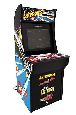 Arcade Machine, 4ft, 1 Up Asteroids game, Vintage Video Arcade Style, Coinless