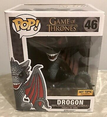 "Funko Pop Game of Thrones #46 Red Eyes Drogon 6"" Hot Topic Exclusive -FREE SHIP!"