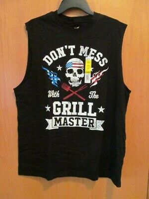 AMERICANA Grill Master~Sleeveless Sleeve tee~Men's Size LARGE (42-44)~NEW w/tags