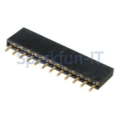 10PCS 12Pin 2.54mm Pitch Header Single Row Female Straight Strip PH: 8.5mm