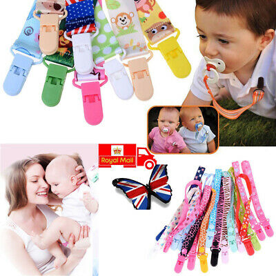 Dummy Beautiful Clip Baby Soother Clips Chain Holder Pacifier Strap Many Designs
