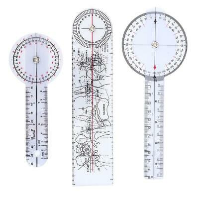 3Pcs 6/8/10 Inch 360 Degree Protractor Angle Medical Ruler Spinal Goniometer