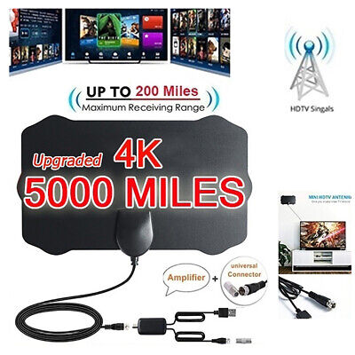 5000 Mile  Shield HDTV Antenna 4K HD Indoor Digital TV Aerial Signal Amplifier