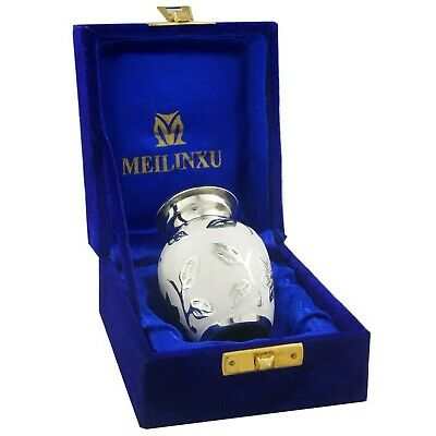 M MEILINXU Mini Keepsake Funeral Urns - Small Cremation Urn for Human Ashes A...