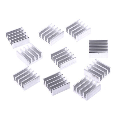 10pcs 11*11*5mm Aluminum radiator heatsink electronic chip cooling bloc`FR