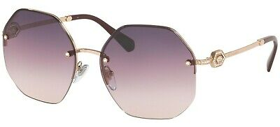 Bulgari Bvlgari 6122B 6122/B 58 2014U6 Violet Shaded Lens Rose Gold Sunglasses