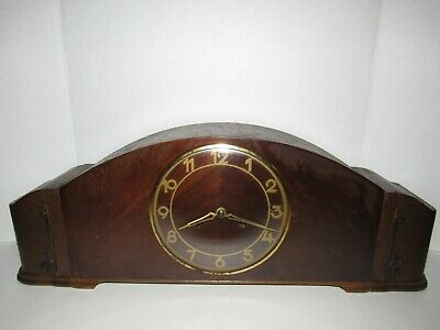 Antique German Mantel Chime Clock , 8-Day, Time/Chime, Key-wind