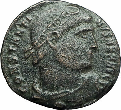 CONSTANTINE I the Great 307AD  Ancient Roman Coin Wreath of success  i78742