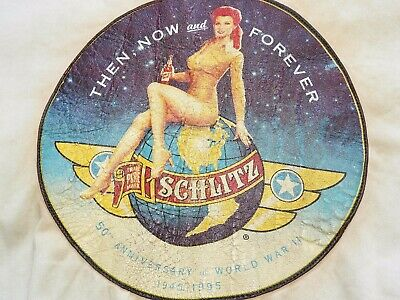 "Vtg AVIREX AAF WW2 PILOT STYLE ""SCHLITZ"" PIN-UP GIRL BACK A-2 FLIGHT JACKET 1995"