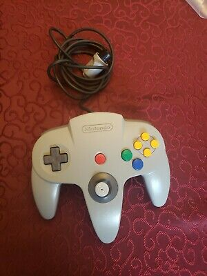 Official Nintendo 64 N64 Grey Authentic Video Game Controller Remote Pad OEM