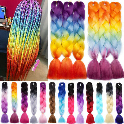 REAL JUMBO BRAIDING Hair Extensions Ombre Kanekalon Twist