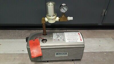 BECKER Type VT 4,16, Motor D80B4P Oil-less Vacuum Pump with  Filter and Gauge