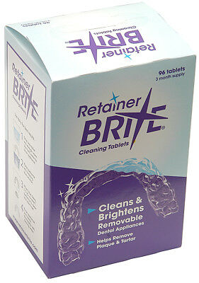Retainer Brite 96 Tablets - Retainer Cleaner, Aligner Cleaner (New Formula)