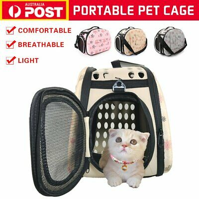 Portable Pet Dog Cat Travel Foldable Carrier Tote Cage Bag Soft Crate Kennel Box