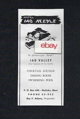 Hotel Iao Needle Maui,Hawaii In The Picturesque Yosemite Of The Pacific 1959 Ad