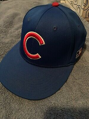 CHICAGO CUBS TEAM MLB Fitted Hat OC Sports Size M/L