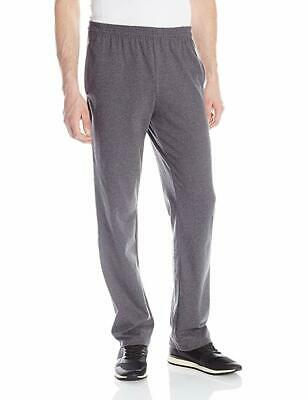 Hanes Men's Jersey Pant, Charcoal Heather, Large