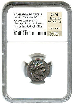 4th-3rd Centuries BC Ar Didrachm NGC MB (Griego Antiguo)