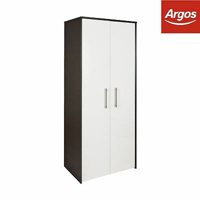 Victoria 2 Door Wardrobe - Graphite & White Gloss
