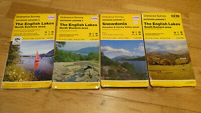 4 ORDNANCE SURVEY Leisure MAPS OL 17,7,5,4 North & South Lakes SNOWDONIA  OS