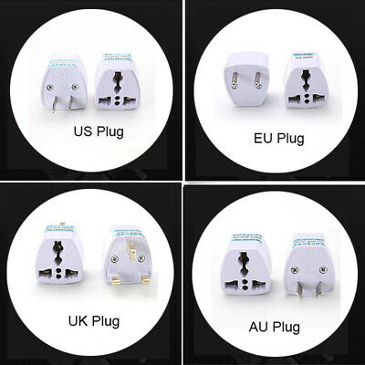EU Europe Euro UK AU USA US UK Travel Charger Power Adapter Converter Wall Plug
