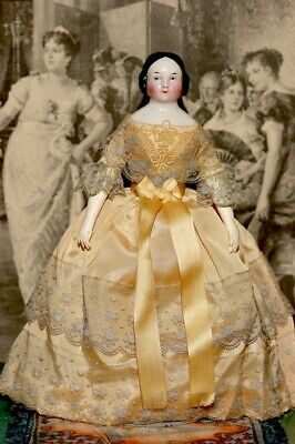 Antique 9 inch China Head doll beautiful condition circa 1840's