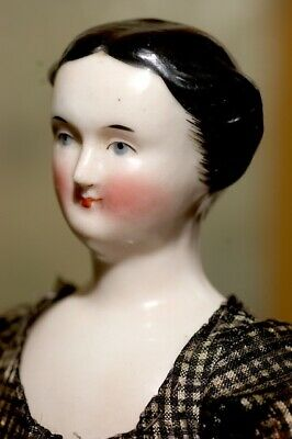 Antique China Head Doll 10 inch Beautiful Condition circa 1840 / 1850