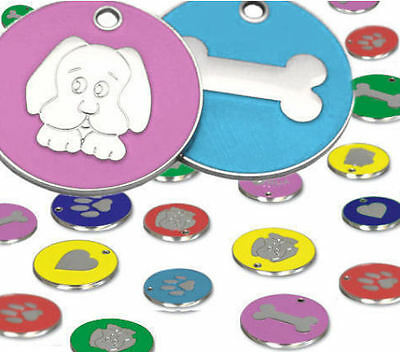 25mm Colourful Dog ID Pet Tag Identity Disc Medium Size Engraved