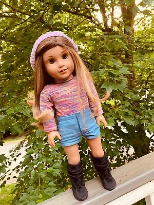 "American Girl Custom Doll 18"" OOAK Lea Clark Brown Hair Hazel Eyes"