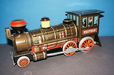 "RF2-1438] Trade Mark Modern Toys Blechlokomotive "" WESTERN "" Made in Japan"