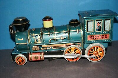 "RF2-4004] Trade Mark Modern Toys Blechlokomotive "" WESTERN "" Made in Japan"