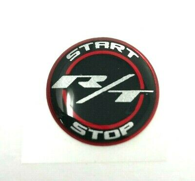 Challenger Charger Journey Starter Push Start Button Decal Emblem R/T Black Red